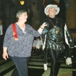 Carol Dealey dancing with the 'Duke of Burgundy'